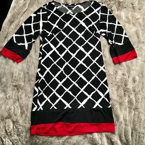 EnFocus Studio Black White & Red Dress